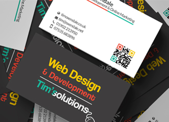 Tim's Solutions  Blackburn Business Cards