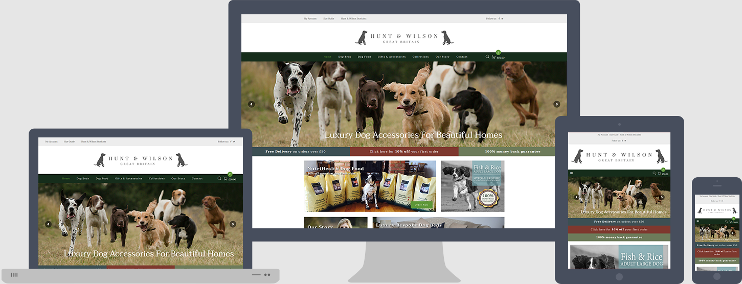 Hunt & Wilson Website Design