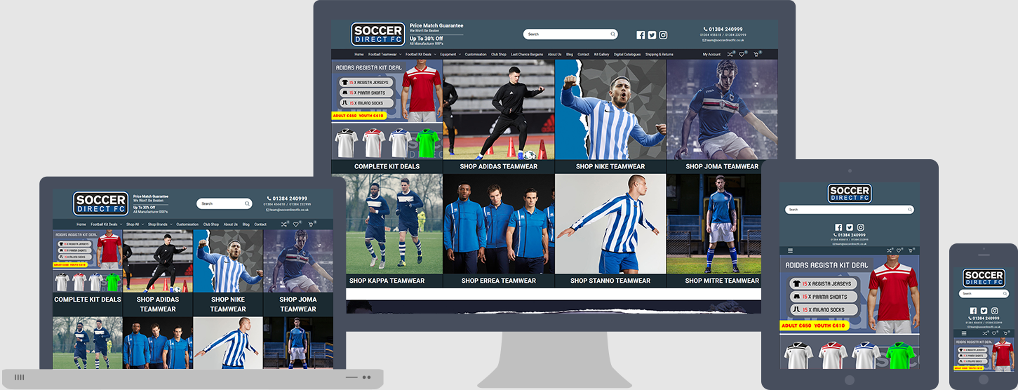 Soccer Direct FC Website Design