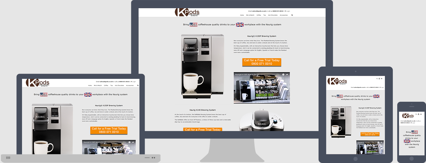 K-Cup Website Design